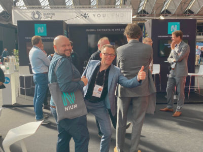 Day 1: Enjoying the vibe at the Nium Stand!